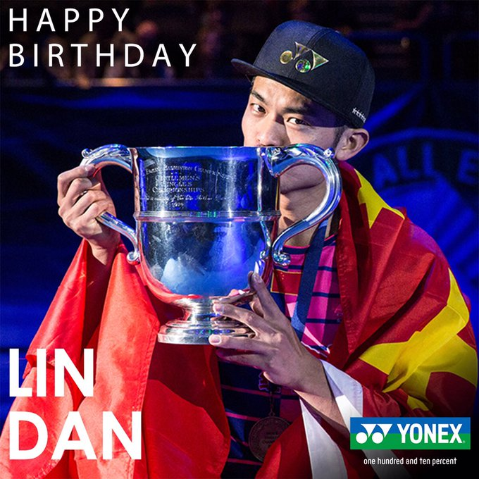 Happy Birthday to 5 time world champion, Lin Dan!