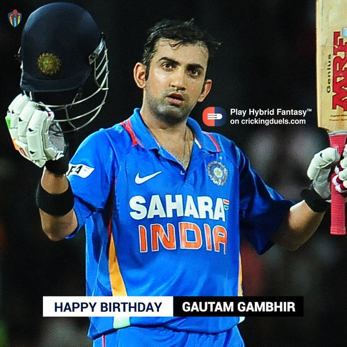 Happy Birthday, Gautam Gambhir. The Indian cricketer turns 36 today.