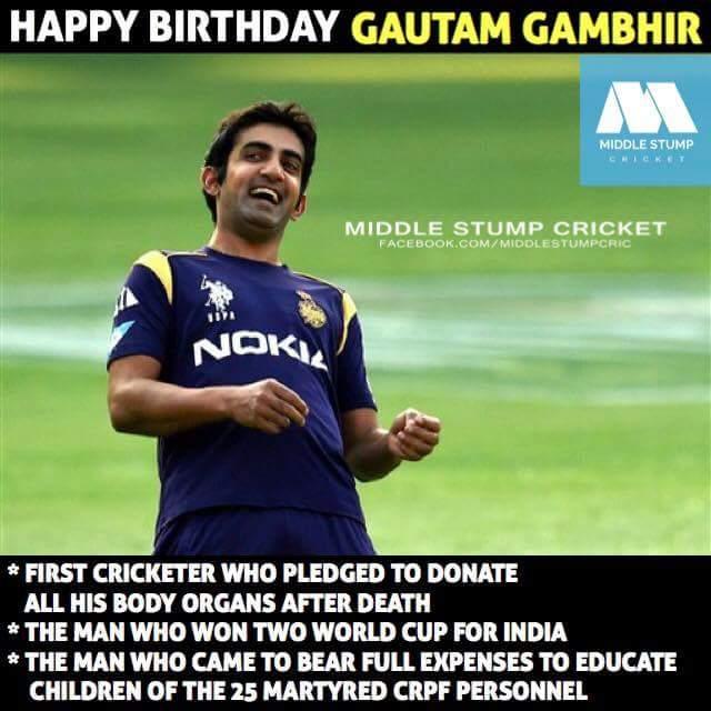 Happy birthday Gautam Gambhir ji