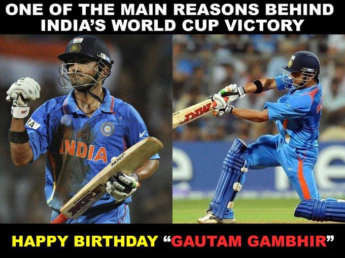 Happy Birthday Gautam Gambhir...!!!