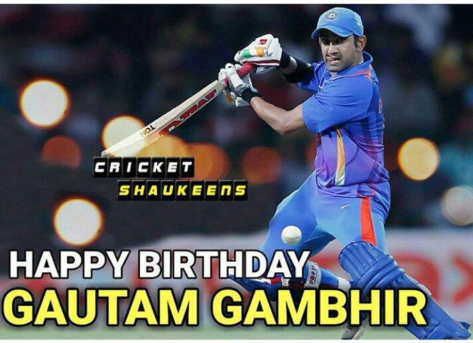 Happy Birthday to u Gautam gambhir ......