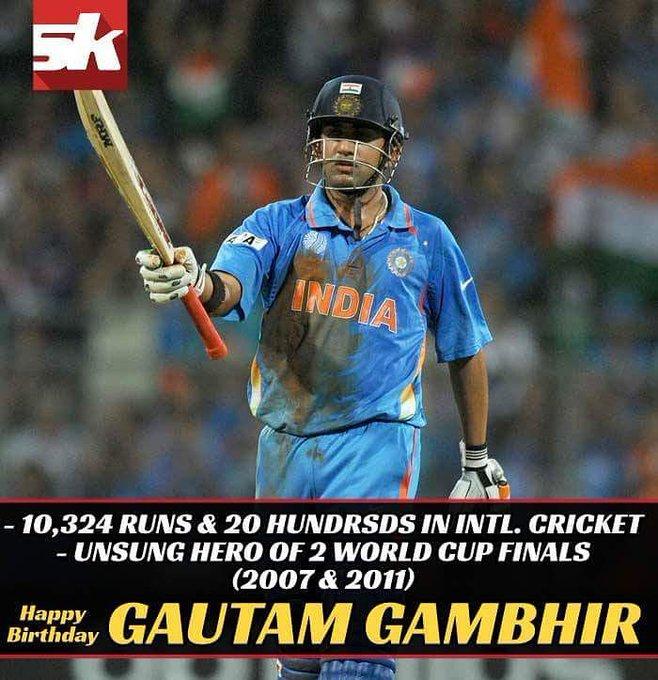 Happy birthday, Gautam Gambhir