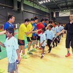 Misbun gets a kick out of grooming young 'uns at coaching clinic