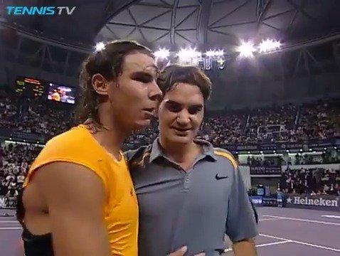 RT @TennisTV: Shanghai 2006: @rogerfederer vs @RafaelNadal  If we knew then what we know now...🤗  #SHRolexMasters https://t.co/IHe4yeBVgC
