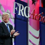 Trump, unlikely religious favorite, hails Christian values, return of 'Merry Christmas'