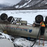 Another fuel truck overturns on Richardson Highway, but reportedly no diesel leaks out
