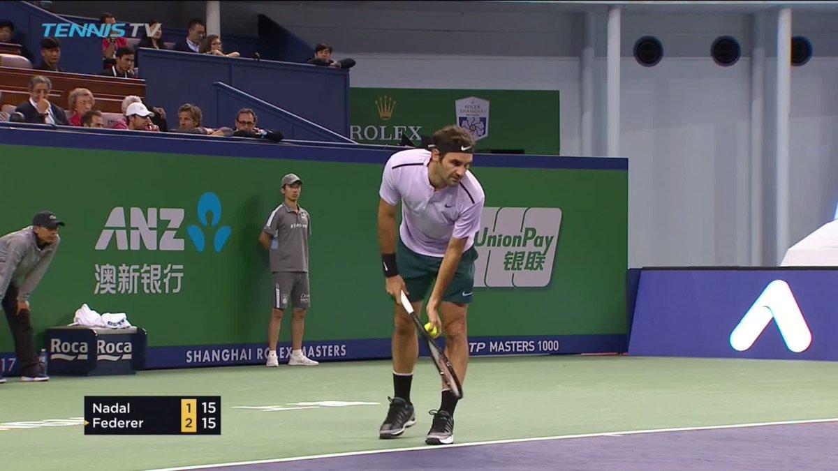 "RT @TennisTV: ""Unplayable"" @rogerfederer forehand!  The Swiss Maestro holding his ground....  #SHRolexMasters https://t.co/l9DDWGcAVV"