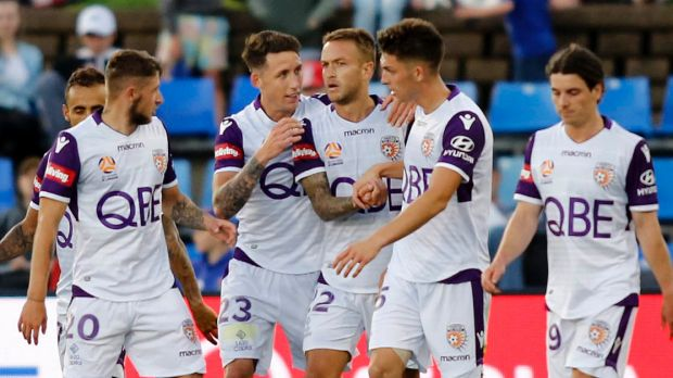 Late Adam Taggart header steals a point for Perth Glory against Newcastle Jets