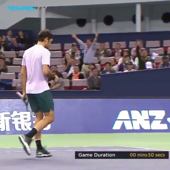 RT @TennisTV: Roger Federer wasn't in the mood to hang around in the Shanghai final...⚡️😬  #SHRolexMasters https://t.co/4IGPonF6kH