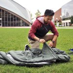 MIT student making sleeping bags for Middle East refugees