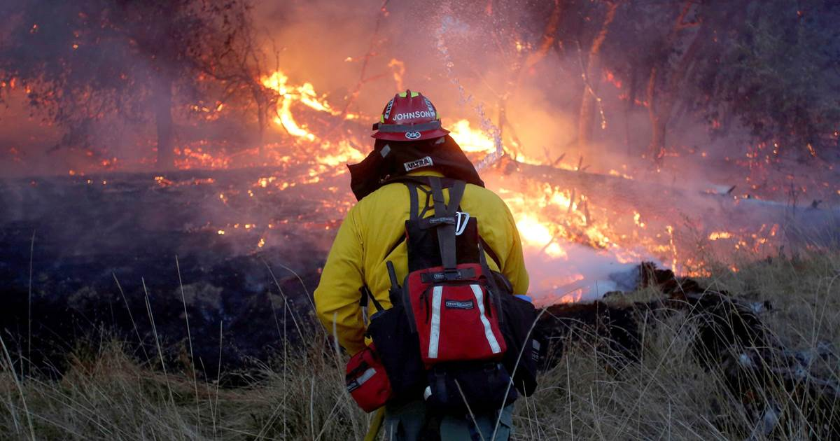 Winds subside as California wildfires continue to burn over 217,000 acres