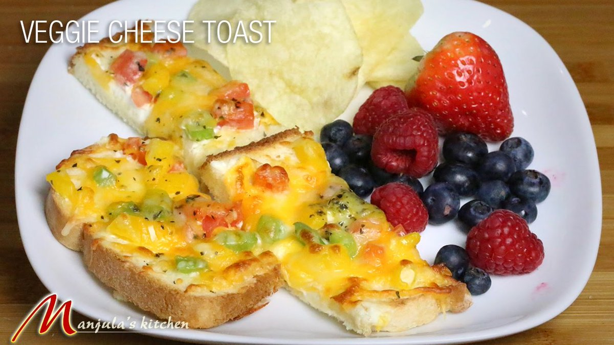Veggie Cheese Toast - Easy to make Snacks, recipe by manjula