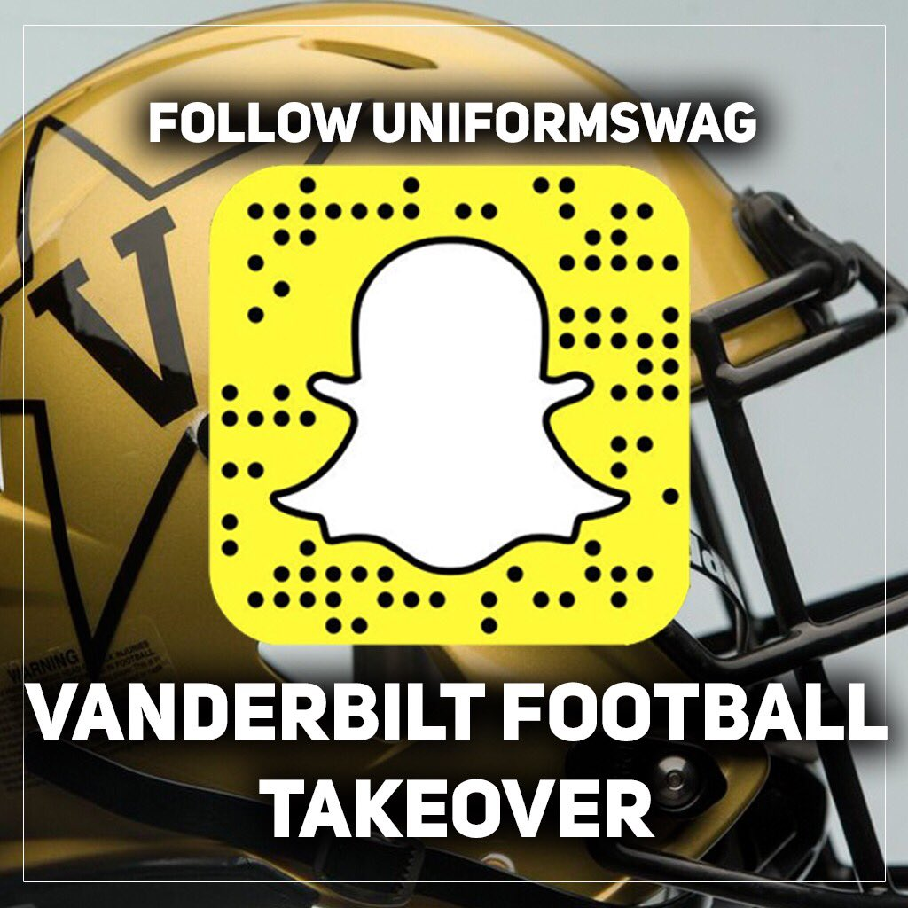 RT @UNISWAG: UNISWAG Snapchat Takeover for @VandyFootball on Monday.  Follow along 👇  #AnchorDown x #uniswag https://t.co/aAdAPw4AzC