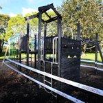 Suspicious fire destroys children's playground