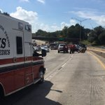 Four people injured in crash Sunday involving five motorcycles on I-110 northbound