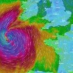 L'ouragan Ophelia au large de la Bretagne ce matin, l'Irlande en alerte rouge
