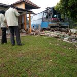 Bus crashes into car, roadside temple near Labu; 10 injured