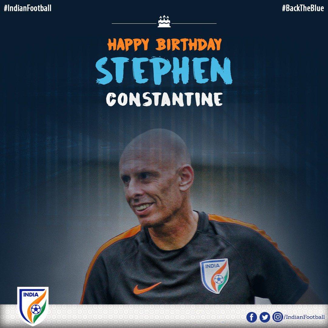 Happy Birthday to Super Coach @StephenConstan #IndianFootball #BackTheBlue #AsianDream
