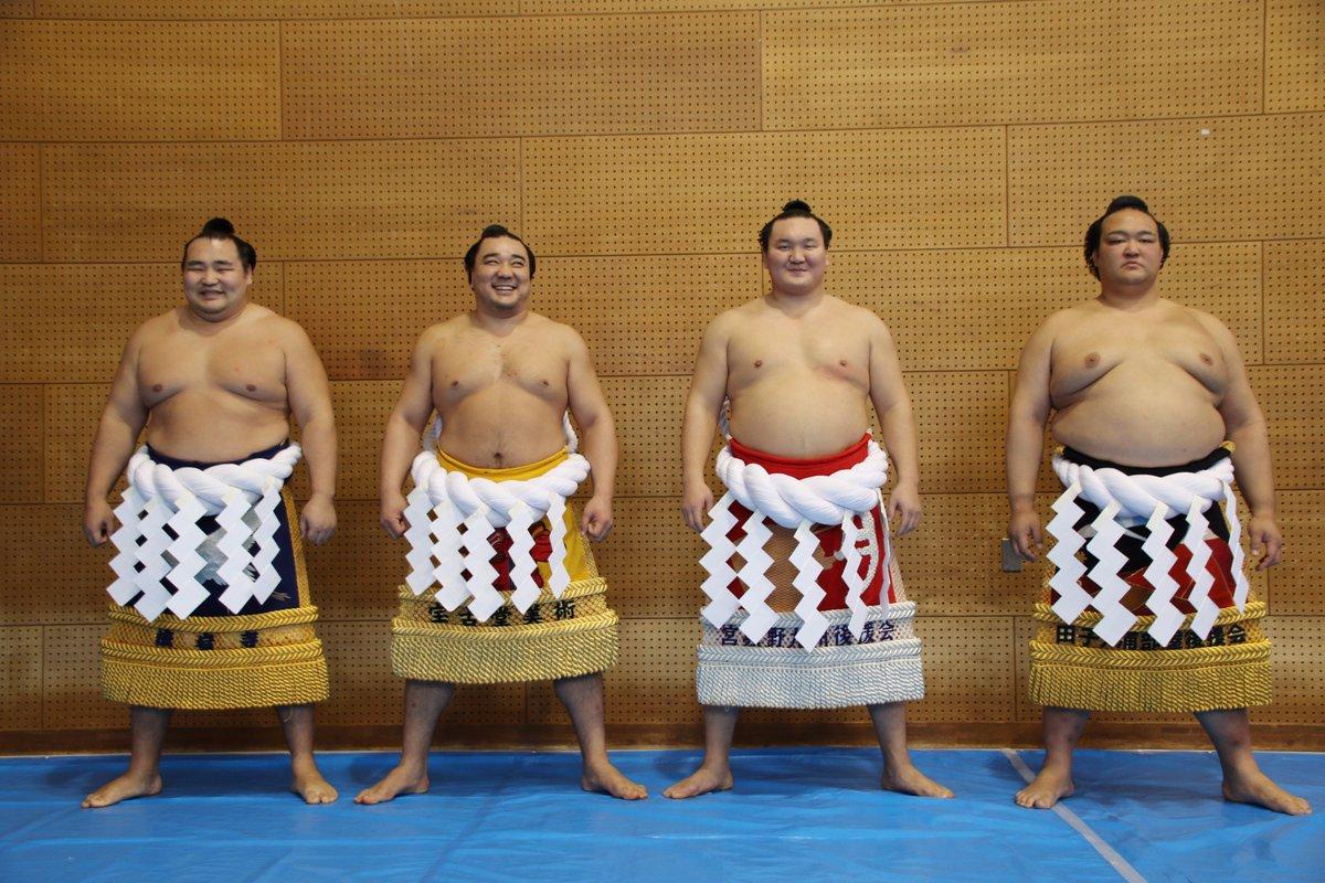 test ツイッターメディア - <秋巡業@金沢場所>鶴竜、日馬富士、白鵬、稀勢の里の四横綱が揃って記念撮影。#sumo https://t.co/i8oHskon3Z