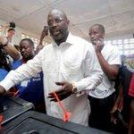 Ex-soccer star Weah headed for presidential run-off in Liberia