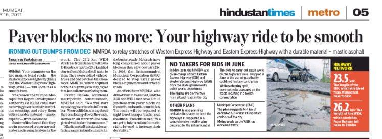 Soon, smoother rides through #EEH and #WEH #Mumbai @MMRDA_TWEET @HTMumbai @htTweets @R ...