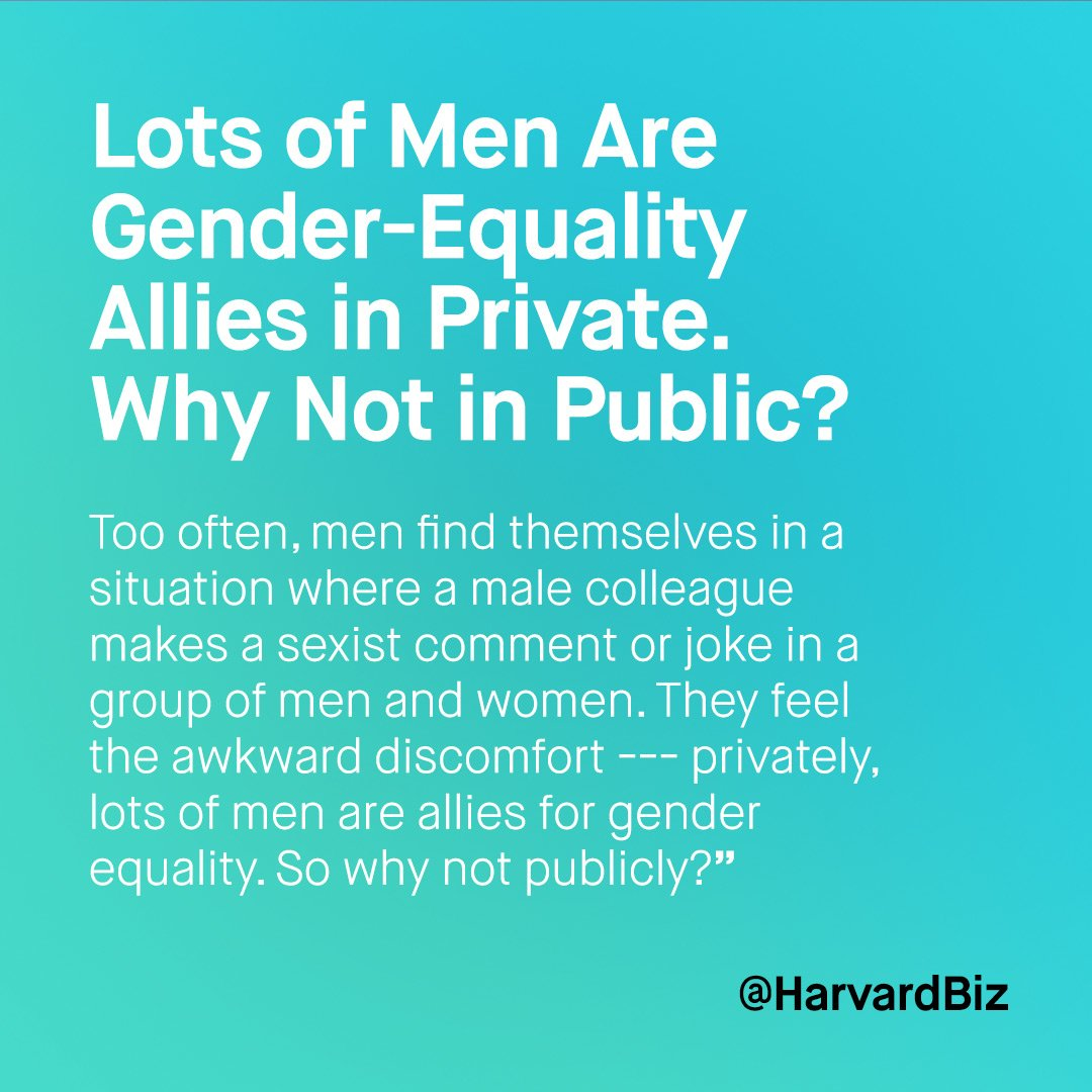 With recent debate on #sexualharassment in the #workplace. How can more men speak-out? via@HarvardBiz https://t.co/w01cseeOou https://t.co/kJgPm9Wtuw