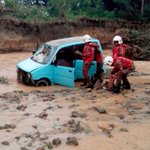 Boy believed drowned after car plunges into river