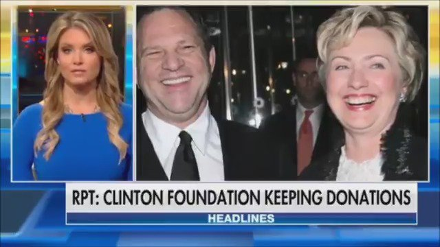 RT @foxandfriends: Clinton Foundation will reportedly keep Harvey Weinstein donations https://t.co/50FnW4iFQL