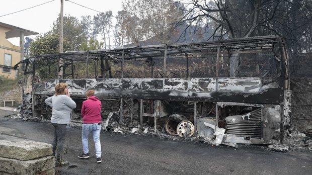 Portugal wildfires kill 27; 4 dead across border in Spain