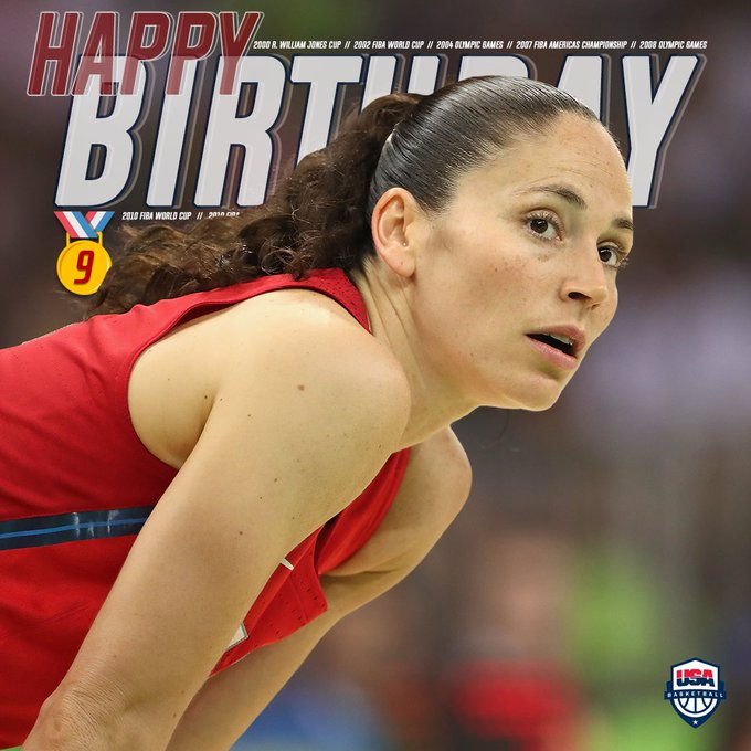 Her career speaks for itself. Wishing a happy birthday to one of the greatest, Sue Bird!