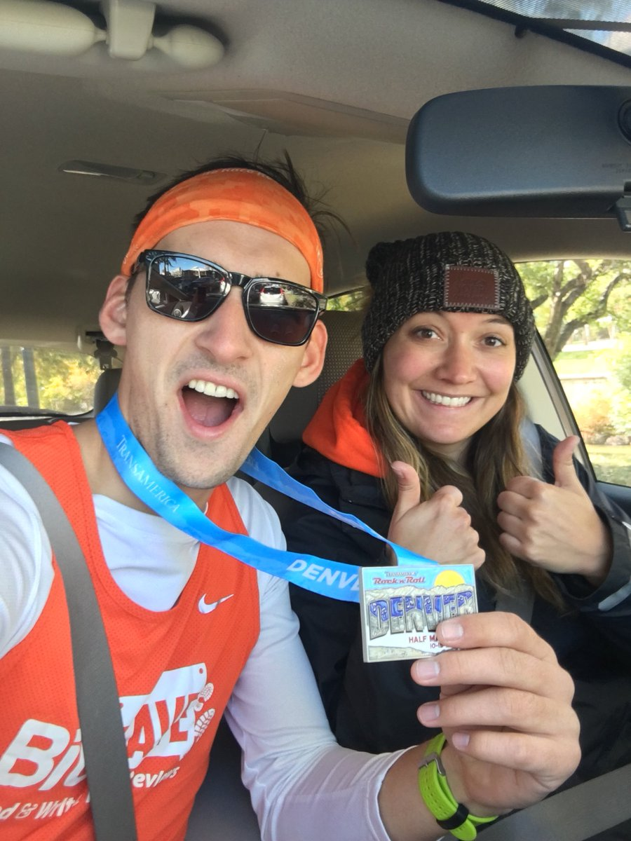 Still feeling hyped about the @RunRocknRoll finish! How's your morning? #bibchat #rnrdenver https://t.co/VJFYDlYZco