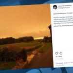 Tempête Ophelia: ciel jaune au-dessus de la Bretagne