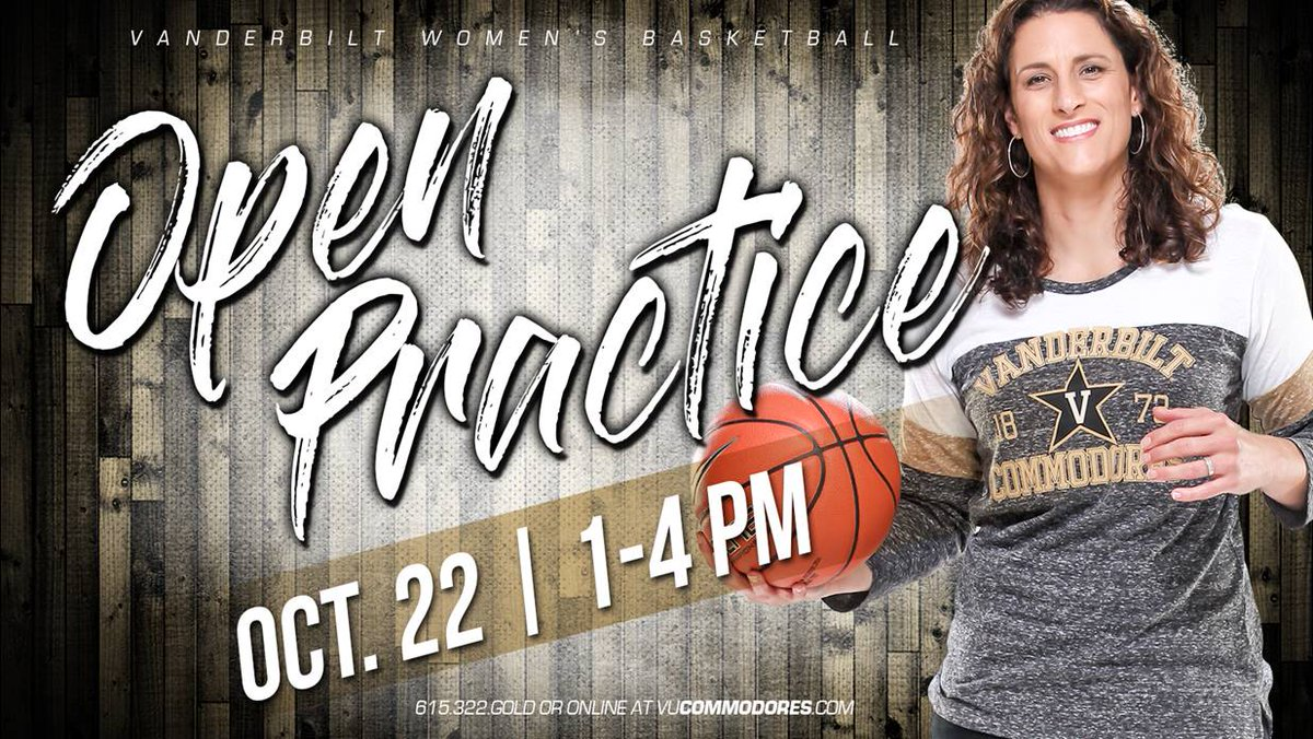 RT @VandyWBB: Hey @VandyWBB fans mark your calendars for Sunday Oct. 22 from 1-4 PM for our open practice!! ⚓️⬇️ #HoopsSeason https://t.co/…