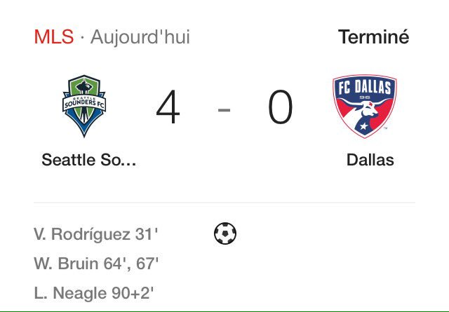 Démonstration de force de Seattle qui se qualifie pour les Play-Off et laisse Dallas sur le carreau à la 7ème place ! https://t.co/BO5WljiqH4