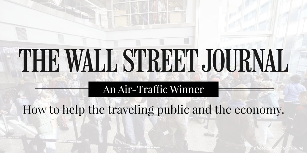 ICYMI: The @WSJ on the #21AIRRact: An Air Traffic Winner https://t.co/6k4s1J9djN https://t.co/U1YId2SO0q