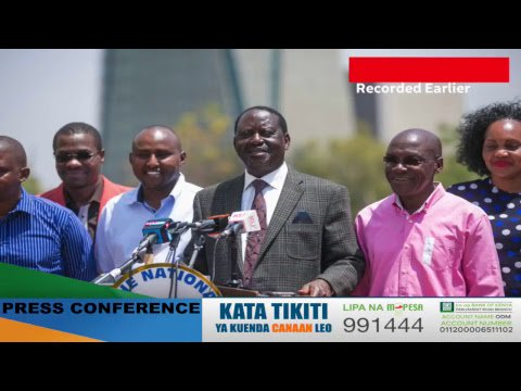 Press Conference: Kenyans will resist layers of conspiracy to kill democracy