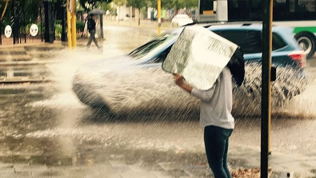 Howling winds and buckets of rain dumped in Perth spring storm
