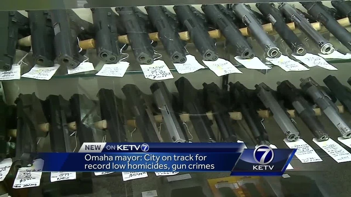 Omaha mayor: City on track for record low homicides and gun crimes