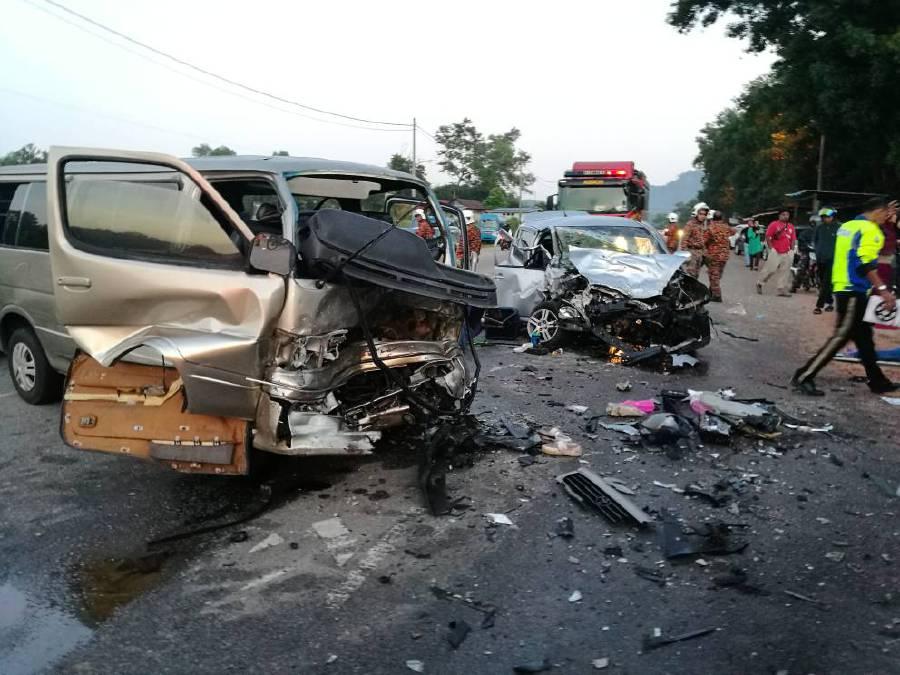 Two killed, 11 badly hurt in horrific van-car collision near Sg Petani