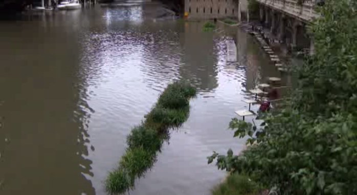 Cleanup Continues On Flooded Chicago Riverwalk