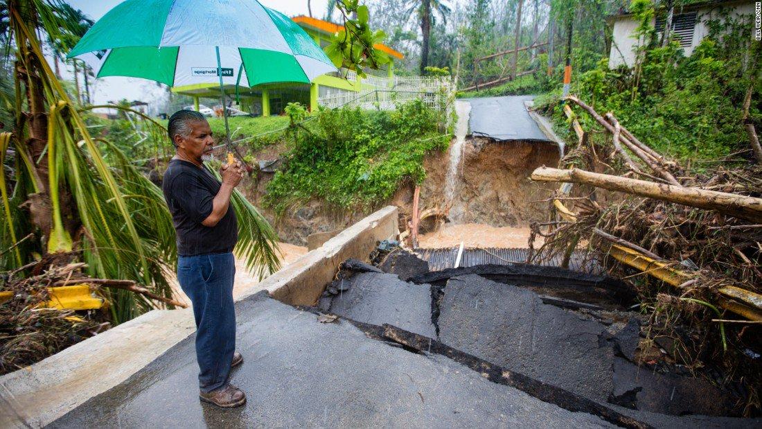 Mudslide hits Puerto Rico neighborhood that President Trump visited