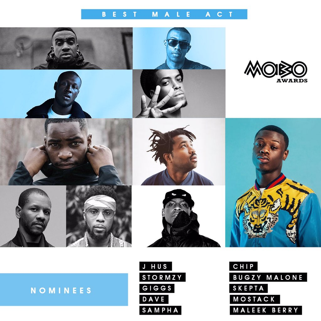 Pleased to announce the 2017 @MOBOAwards Best Male Act nominees! #MOBOAwards https://t.co/SIf1ZKykSX