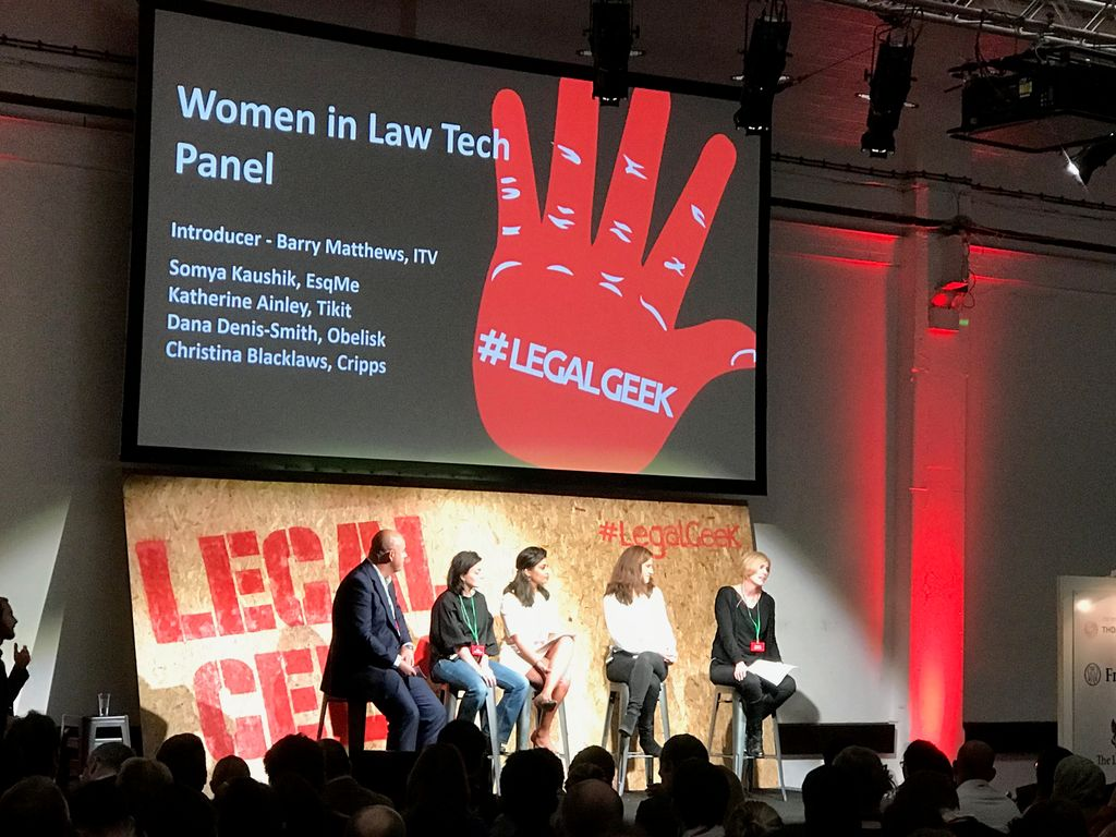 #LegalGeek supporting Women in #LegalTech @wearelegalgeek @legalpioneer https://t.co/UnNug8k5EE