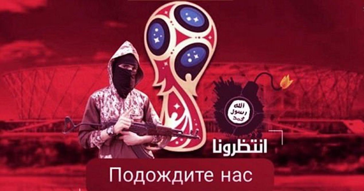 ISIS vow to target 2018 World Cup in Russia after releasing chilling picture of rifle-wielding jihadi standing next to stadium