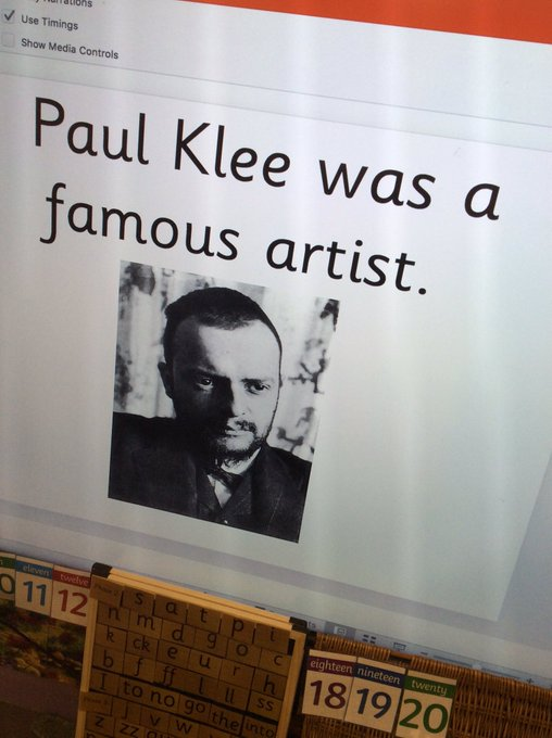 RT @misspotterskidz: Finding out about Paul Klee in art today 🎨 https://t.co/XmGa0w0k7K