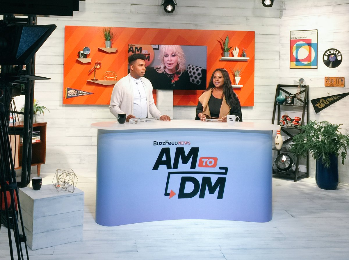 RT @IsaacFitzgerald: Look at this fucking magic. @theferocity, @SylviaObell, and @DollyParton on #AM2DM ☺️😂😭 https://t.co/db21qhKJck