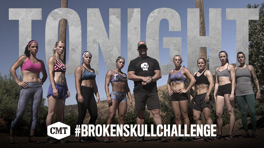 Tonight!RT @CMT: 8 NEW epic match-ups coming your way on @steveaustinBSR's #BrokenSkullChallenge at 10/9c. https://t.co/Xi721fnJGY