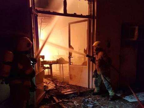 Fire guts textile warehouse in Ajman