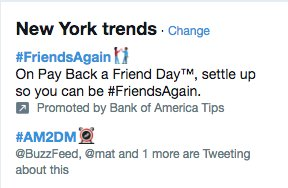 RT @NickPacilio: so @AM2DM is the #1 Twitter trend in New York right now #am2dm https://t.co/8qOVmEcbld