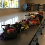 Marion Poms Squad collects purses for women in need